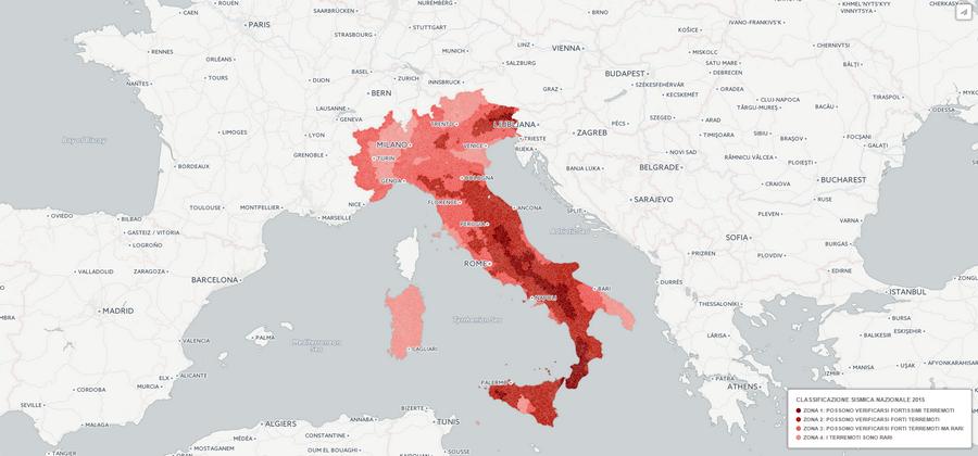 Mappa del rischio sismico